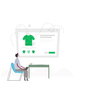 Ecommerce Site Building Illustration